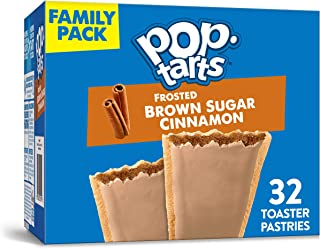 Kellogg's Pop-Tarts Frosted Brown Sugar Cinnamon - Toaster Pastries Breakfast for Kids, Family Pack (2 Count of 27 oz Boxes), 54.1 oz