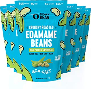 Sponsored Ad - The Only Bean - Crunchy Roasted Edamame Beans (Sea Salt) - Keto Snacks (1g Net) - High Protein Healthy Snac...