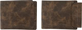 LOREM Brown Artifical Leather Wallet for Mens (7 Card Slots)-WL-FZ-04