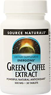 Source Naturals Green Coffee Energize, 500Mg, 30 Tablets