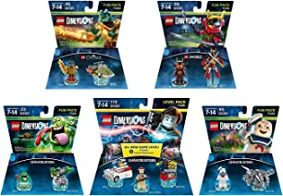 Ghostbusters Peter Venkman Level Pack + Slimer + StayPuft + The Legend Of Chima Cragger + Ninjago Nya Fun Packs - Lego Dimensions (Non Machine Specific)
