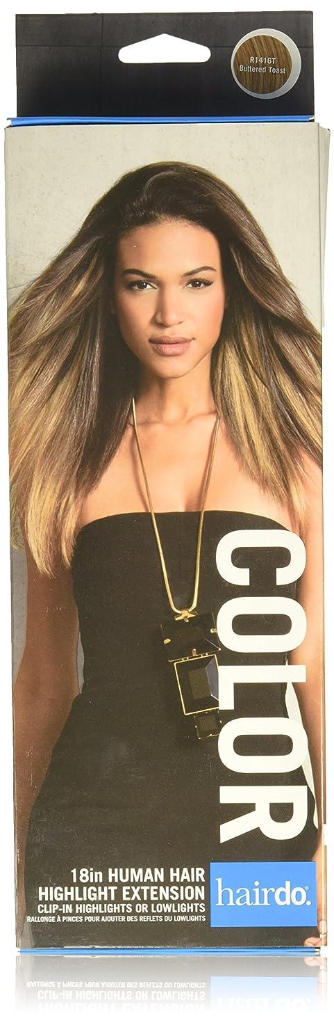 対象発見するデマンドHairDo 「6感圧クリップ女性の長い髪にヘアスタイル拡張1ピースクリップ - 「18」人間の髪の色R1416TバターTOASTを強調表示します バタートースト