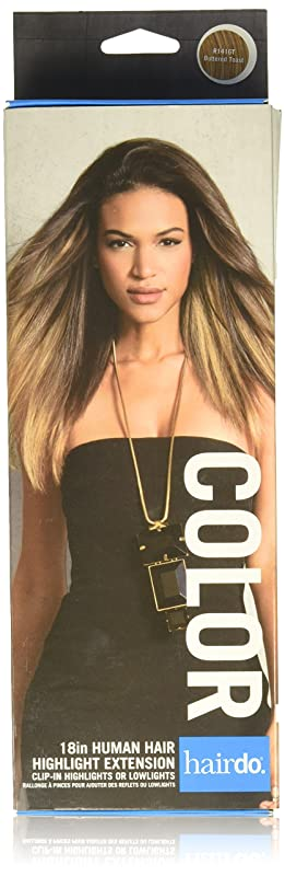 繁栄する感心するストリームHairDo 「6感圧クリップ女性の長い髪にヘアスタイル拡張1ピースクリップ - 「18」人間の髪の色R1416TバターTOASTを強調表示します バタートースト