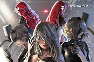 Best Print Store - Nier Automata: 9S, 2B, A2, Devola and Popola Poster (11x17 inches)