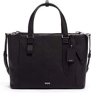Varek Park Leather Laptop Tote - 12 Inch Computer Bag for Men and Women - Black