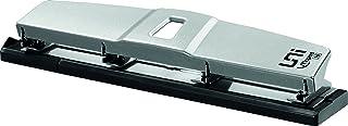 Maped - Perforatrice 4 Trous - Perforeuse A4 Métal pour 10 à 12 Feuilles - Avec Système de Calage Optimisé sur les Anneaux...