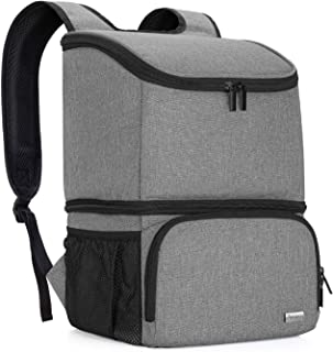 Teamoy Breast Pump Bag Backpack with Cooler Compartment for Breast Pump, Cooler Bag, Breast Milk Bottles and More, Double Layer Pumping Bag for Working Moms, Gray(Bag Only)