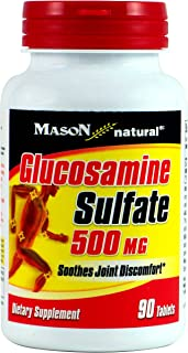 MASON NATURAL, Glucosamine Sulphate 500 mg Single Strength Tablets - 90 ea
