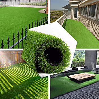 Amazon Com Pet Grow Premium Artificial Grass 4ftx15ft 35mm Pile Height Rubber Backed With Drainage Holes Realistic Thick Synthetic Fake Faux Grass Mat Outdoor Garden Pets Pets Grass Garden Outdoor
