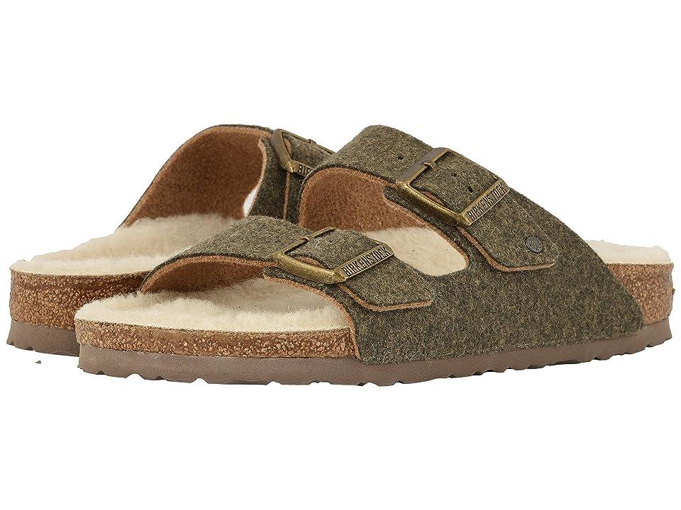 Birkenstock Arizona Wool (Doubleface Khaki) Shoes