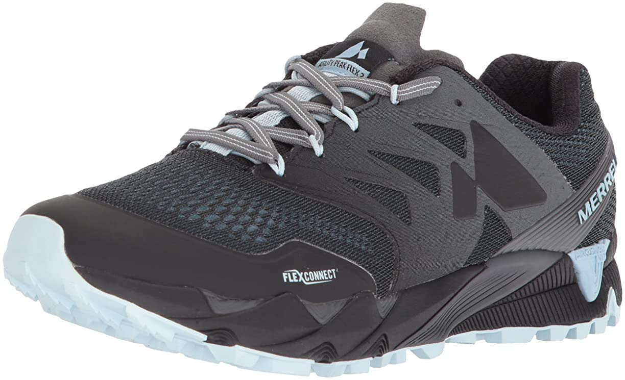 芝生整理する章[メレル] Women's Agility Peak Flex 2 E-Mesh Ankle-High Mesh Running Shoe