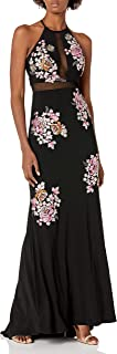 Xscape womens Long Embroidered Dress Formal Dress