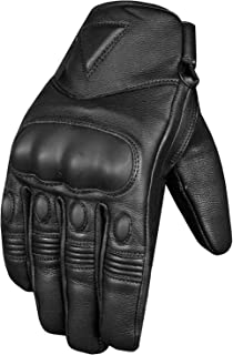 LDM Corsa X1 Motorcycle Motorbike Race Leather Gloves Black White