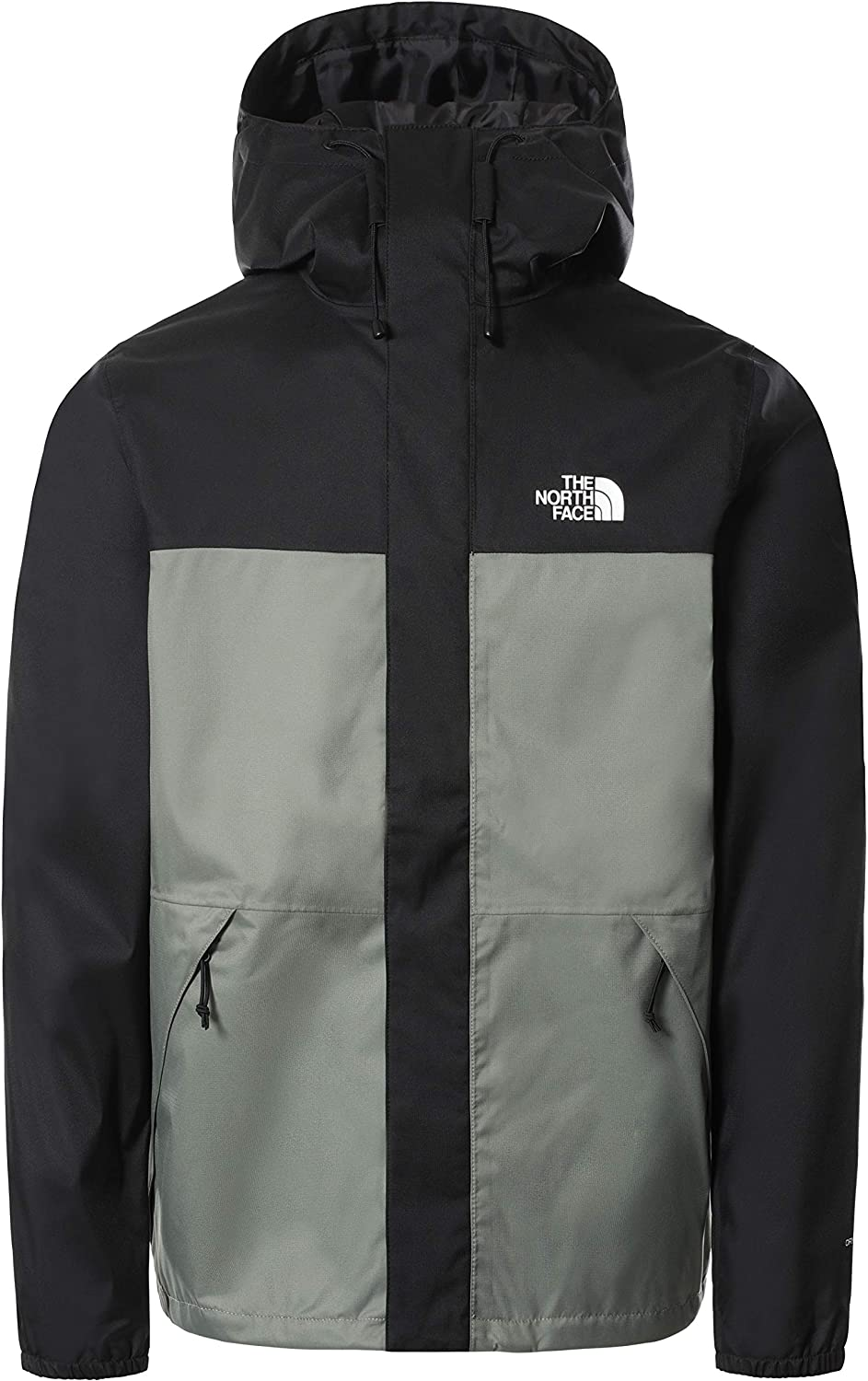 The North Face - Chaqueta Shell para Hombres - Chaqueta Impermeable Ligera - Agave Green