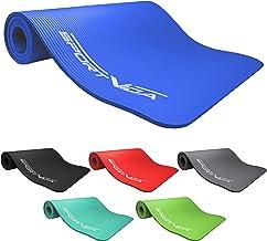 SportVida NBR mat. Antislip extra dikke yogamat met zacht schuim. Dikke turnmat voor thuis training met draagriem 180 x 60...