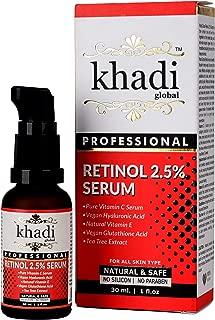 Khadi Global Retinol Deep Wrinkle Repair Serum With Vitamin C Serum, Vegan Glutathione, Vitamin E & Tea Tree Extract Anti-Wrinkle Serum, Best Retinol Serum 30ml | 1 fl.oz