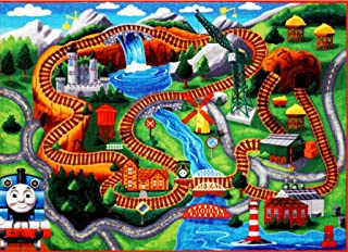 Thomas the Train Play Mat HD Thomas and Friends Tank Engine Railway Road Rug Bedding Area Rugs 5x7, X Large