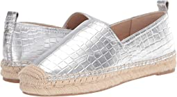 Soft Silver Metallic Croco Leather