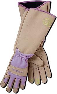 دستکش سحر و جادو و حرفه ای ایمنی حرفه ای دستکش باغبانی مقاوم در برابر زراعت با حفاظت طولانی ساق پا برای زنان (BE195TM) - مقاوم در برابر ضربه، متوسط (1 جفت)