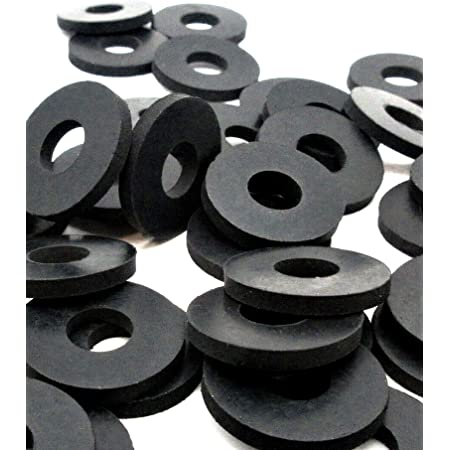 Black Rubber Washer Large Rubber Washers 5//8 OD x 1//4 ID x 1//16 Thickness 100 EPDM Rubber Washers Flat Rubber Washers Round Rubber Washers