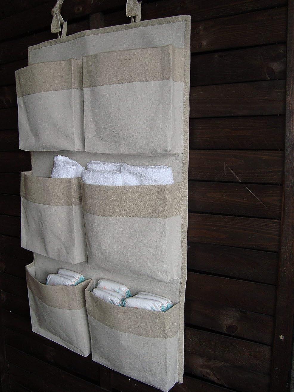 Caddy Organizer, Canvas Crib Storage, Linen Nursery Organizer, Girl Boy Storage Bag, Nursery Accessory, Hanging Storage
