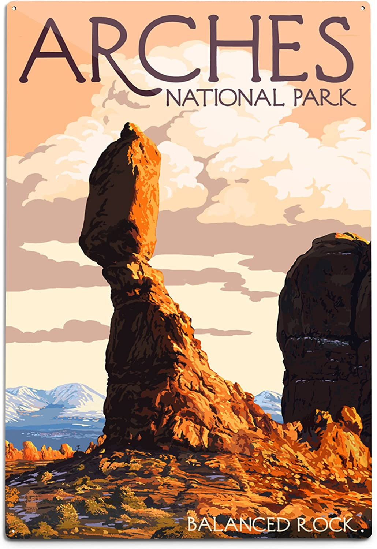 Lantern Press Arches National Park Rock A Balanced Special sale Ranking TOP11 item Utah 12x18