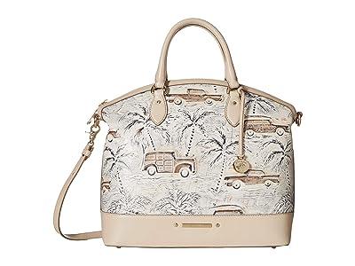 Brahmin Copa Cabana Large Duxbury Satchel (Ivory) Satchel Handbags