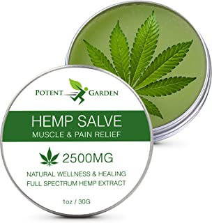 Hemp Oil Salve for Pain Relief Max Strength & Efficiency - Hemp Skin Cream Balm for Inflammation, Muscle, Joint, Hands, Ba...