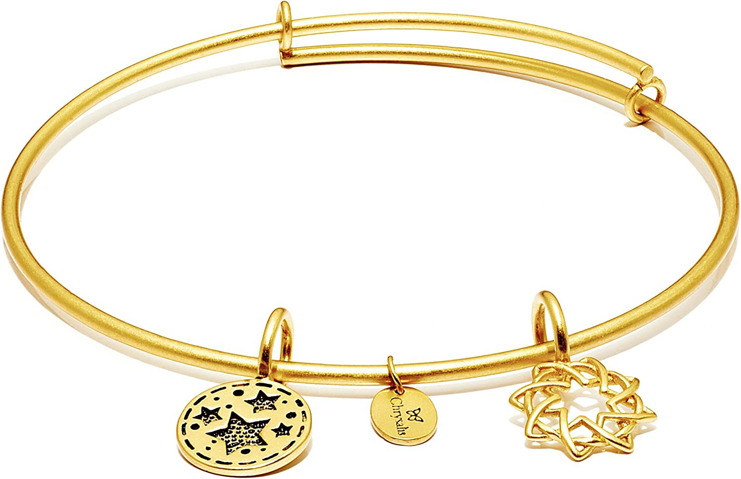 Chrysalis Expandable 'Redemption' Bangle Bracelet in 14K Gold-Plated Brass