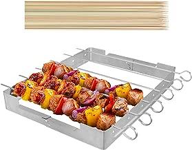 UNICOOK Upgraded Stainless Steel Barbecue Skewer Shish Kabob Set, 6pcs 13.5