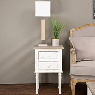 Baxton Studio Anjou Traditional French Accent Nightstand, Medium, White