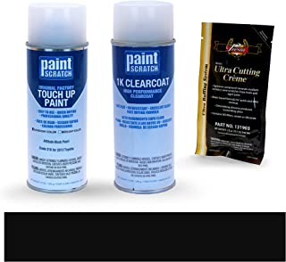 PAINTSCRATCH Attitude Black Pearl 218 for 2013 Toyota Camry - Touch Up Paint Spray Can Kit - Original Factory OEM Automotive Paint - Color Match Guaranteed