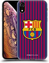 Official FC Barcelona Home 2018/19 Crest Kit Soft Gel Case Compatible for iPhone XR