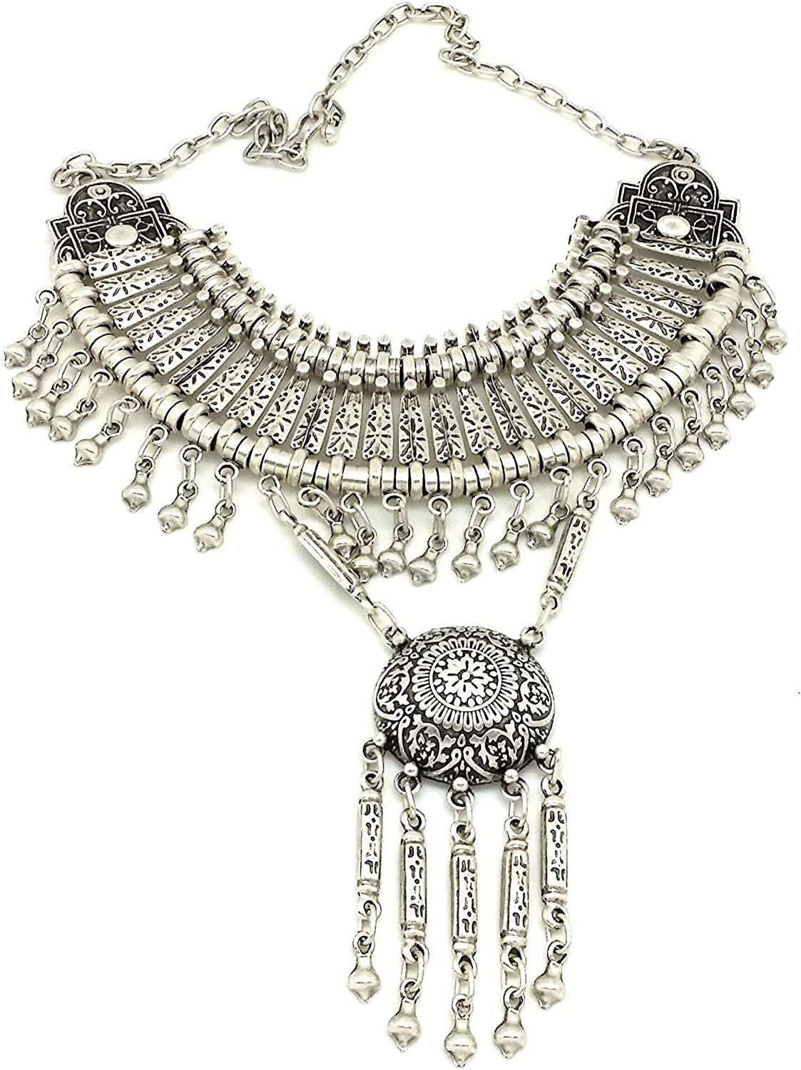 Gypsy Style Bohemian Cheap super special price Turkish Necklace Statement Sales for sale Vintage Silver