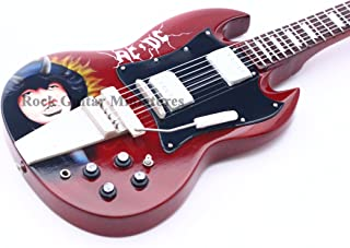 RGM201 ACDC Angus Young Caricature Guitarra en miñatura