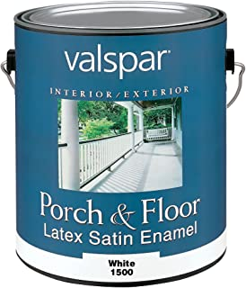 Valspar 1500 Porch and Floor Latex Satin Enamel, 1-Gallon, White