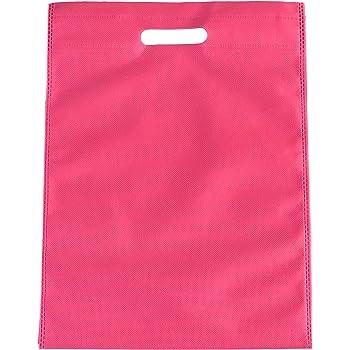 200 Piezas Reutilizable 25 cm x 35 cm Color Rosa Earth non woven Bolsas para Bolsas de la Compra no Tejido Tela mercanc/ía Bolsas Respetuoso con el Medio Ambiente