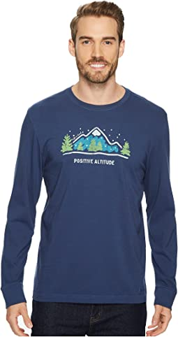 Life is Good - Positive Altitude Winter Long Sleeve Crusher Tee
