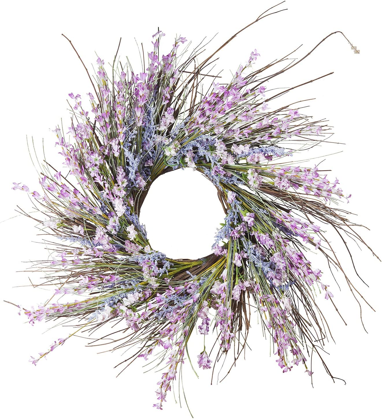 Enova Max 44% OFF Home 24 inches Artificial Spring Wreath Festiva Flower for Very popular!