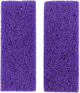 HEALIFTY 2Pcs Foot Pumice Stone Exfoliator Pedicure File Block Callus Remover Scrubber (Purple)