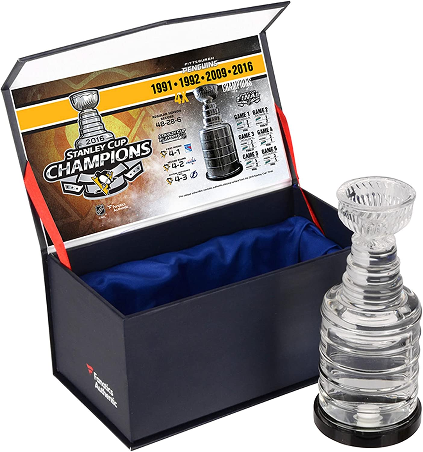 Pittsburgh Penguins 2016 Stanley Champions Cup Crystal safety Bombing new work C