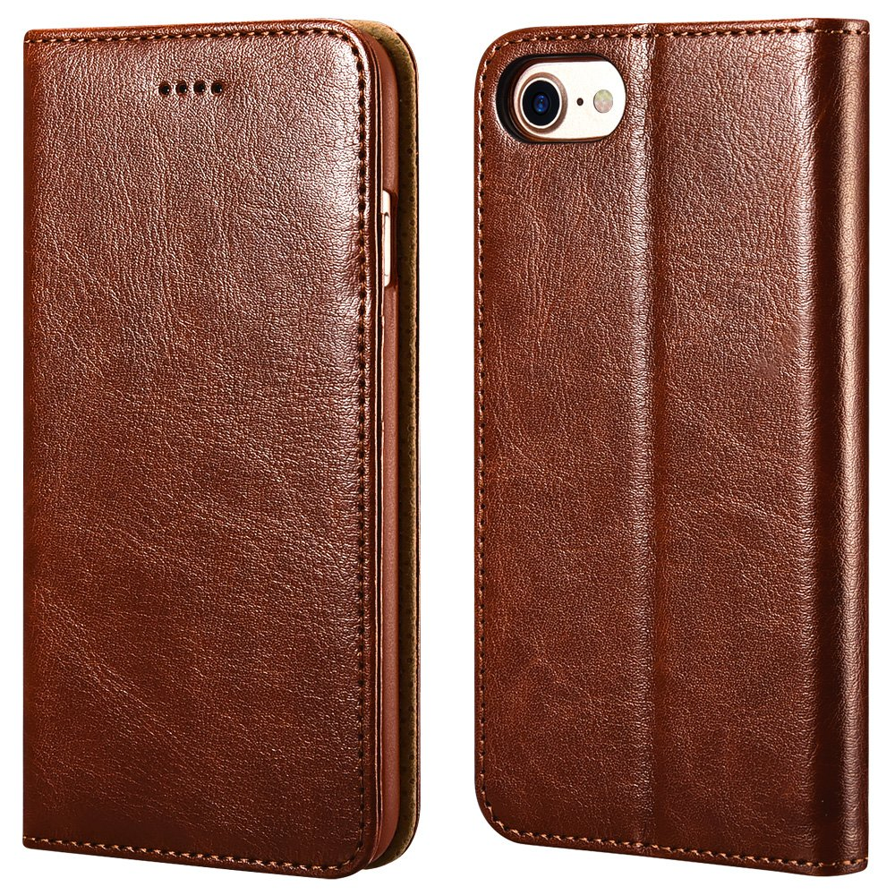 iPhone ICARERCASE Premium Leather Kickstand
