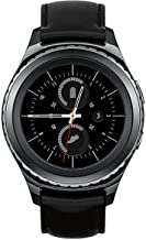 Samsung Gear S2 SM-R735T Stainless Steel Leather Black Smartwatch for T-Mobile (Renewed)