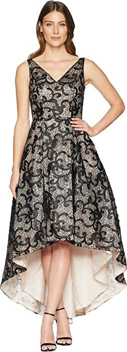 Embroidered High-Low Gown CD8BR07L