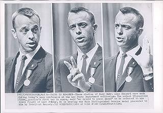 Vintage Photos 1961 Photo Alan Shepard Commander Space Astronaut NASA Political Portrait 7x9