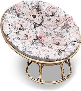Coussin pour fauteuil papasan - Taille XXL - Diamètre 110 cm - Grand coussin de sol rembourré, tapis d'éveil, coussin pour...
