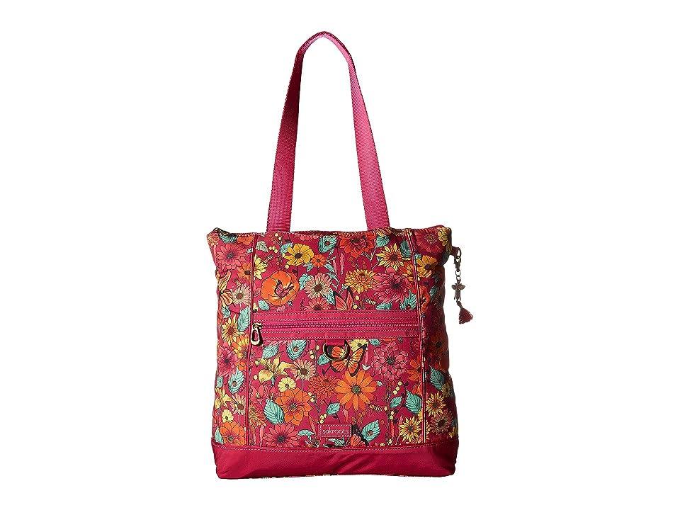 Sakroots Chelsea Convertible Totepack (Raspberry in Bloom) Backpack Bags