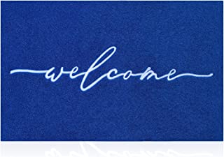 AAZZKANG Blue Door Mat Outdooor Entrance Welcome Doormat Large 24x36 with Durable Non Slip Rubber Backing Ultra Absorb Mud...