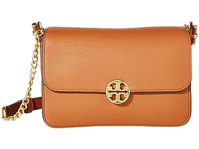 Tory Burch Chelsea Crossbody (Classic Tan) Cross Body Handbags