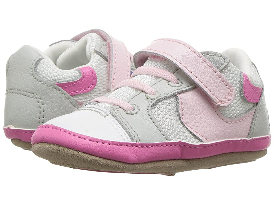 Robeez Tori Tenny Mini Shoez (Infant/Toddler) (White/Pink) Girl